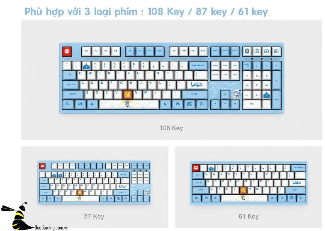 keycap-akko-bilibili-bee-gaming-7